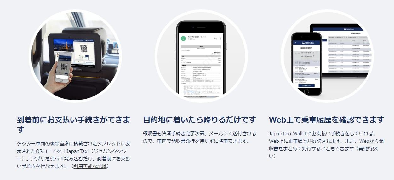 JapanTaxi(ジャパンタクシー)の使い方